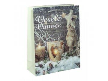 Dárková taška vánoční | šedá