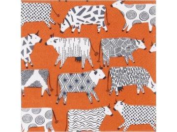 Papírové ubrousky Curious Cows | malé
