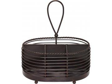 Drátěný košík na příbory a ubrousky