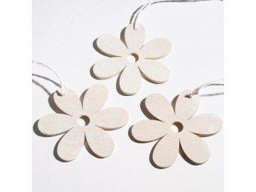 Květ závěsný bílý 8cm set 2ks
