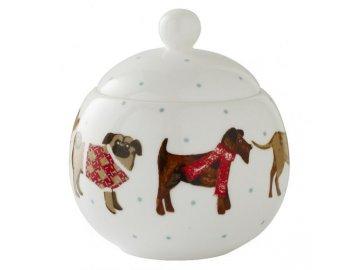Porcelánová cukřenka Hound Dog 10x11,5 cm