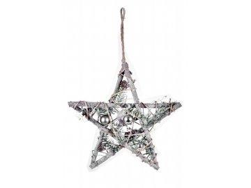 Hvězda|LED dekorace|s ozdobami
