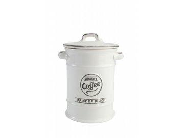 nádoba na kávu bílá
