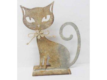 Kočka | kovová dekorace (Velikost větší)