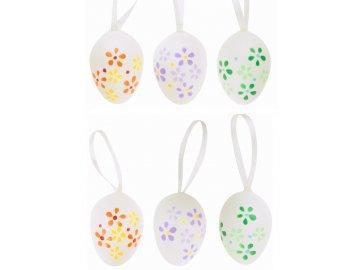 Velikonoční vajíčka | plastová | na zavěšení | 6ks | 4cm