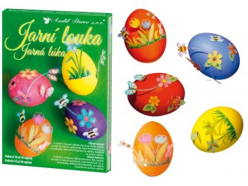 Sada k dekorování vajíček | jarní louka