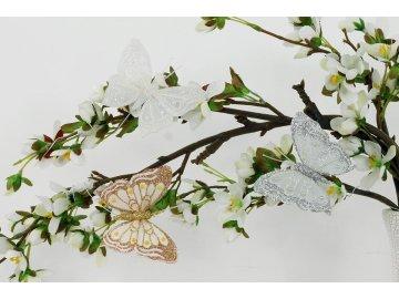Motýl s klipem | sada 12ks | 8cm