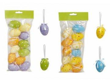 Velikonoční vajíčka   plastová   barevná   6cm   set 12ks