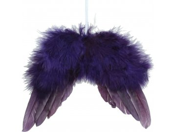 Závěsná ozdoba | křídla | fialová | 16cm