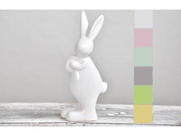 Porcelánový zajíc | mix barev | 15 cm