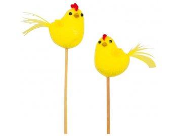 Velikonoční kuřátko | žluté | zápich | 4cm