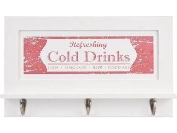 Dřevěný věšák Cold Drinks   červený