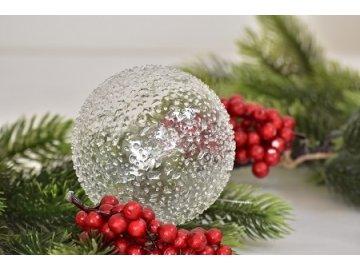 Skleněná vánoční baňka | průměr 12 cm