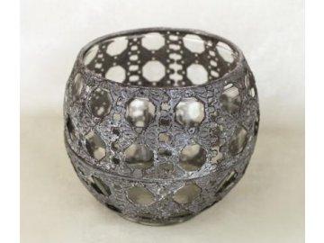 Svícen koule 14x12cm