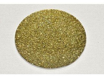 Tác skleněný | zlatý | mražený | 20cm