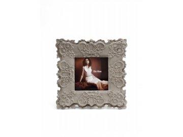 Fotorámeček | světlý | zdobený | 18x18cm