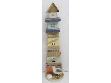 Maják | barevná dřevěná dekorace