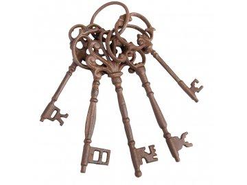 Litinové klíče dekorativní 5ks