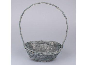 Ratanový košík | šedý | 30x11x22cm