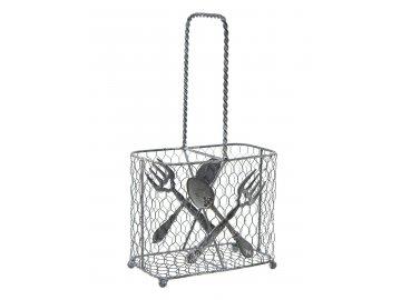 Košík na příbory | drátěný