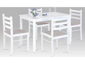 Jídelní set | stůl 114x70cm | 4ks židle | bílá barva