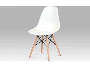 Jídelní židle | plast | masiv buk | kov černý