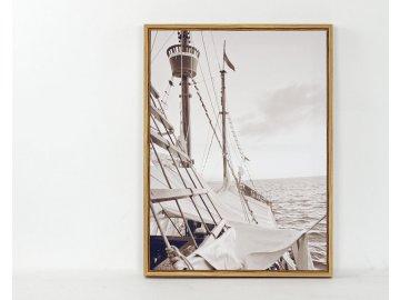 Obraz plátěný v rámečku   Plachetnice