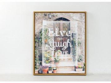 Obraz plátěný v rámečku   Live laugh Love