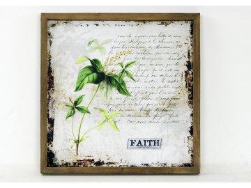 Obraz plátěný   v dřevěném rámečku   text