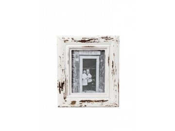 Fotorámeček | bílý | patina | 30x35x3cm