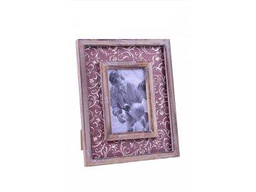 Fotorámeček | hnědý | s ornamenty 22x27x2cm