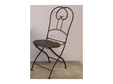 Židle se srdíčkem 88x37cm