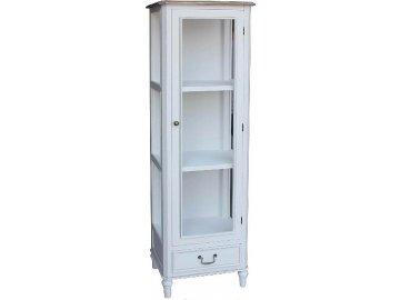 Prosklená vitrína | Provence | bílá | 160x45x38cm