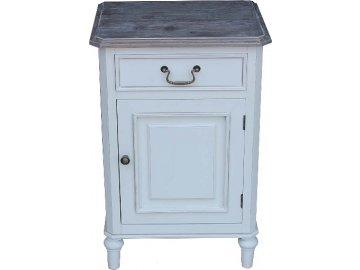 135855 nocni stolek provence bily 70x45x35cm