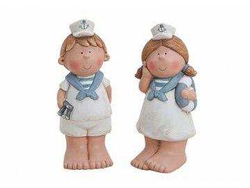 Dítě námořník keramika 22cm