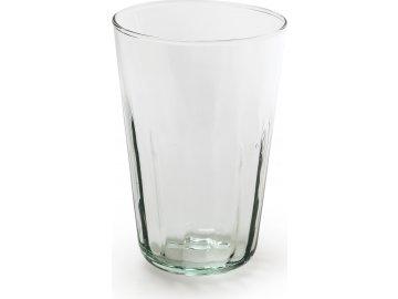 Váza skleněná | čirá | recyklované sklo | 8x8x12cm