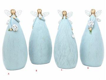 Víla modrá 8x20x6cm (Tvar D)