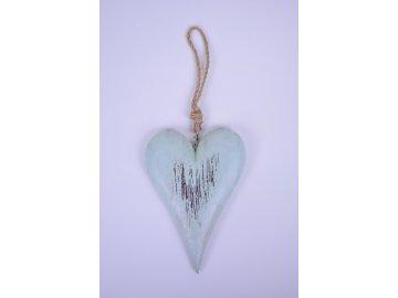 Srdce modré závěsné 9x14x2cm