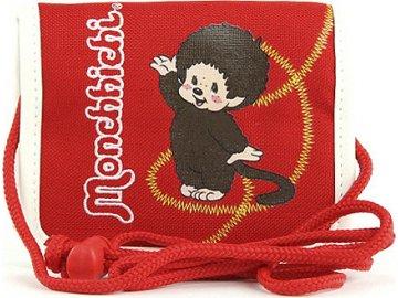 Peněženka Monchhichi | červená | na krk