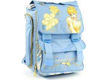 Školní batoh Princess na přezky   modrý  Popelka