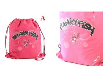 Sportovní vak | Punky Fish | růžová | 44x36cm