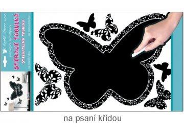 Samolepka tabulka na psaní křídou motýl 49x29cm