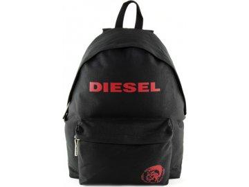 Batoh Diesel | černý | s červeným nápisem Diesel