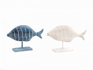 Dekorace ryba na stojánku 25x36,5x8cm