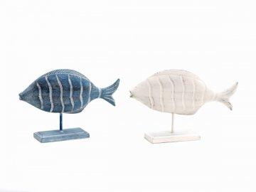 Dekorace ryba na stojánku 17x27,5x6cm