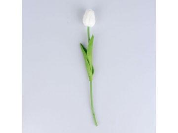 14628 umely tulipan bilo ruzovy 30cm