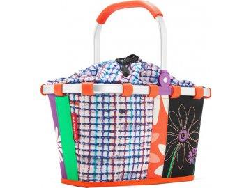 Nákupní košík | Reisenthel | carrybag | Květiny s barevnými proužky