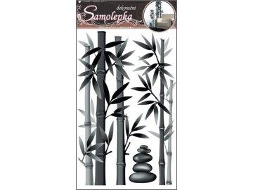 Samolepky na zeď bambus šedý 60x32cm