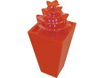 147463 fontana pagoda europalms cervena s led diodami 31x31x72cm
