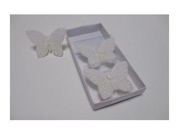 Svíčka | motýl | malý box 3ks | 16,5cm